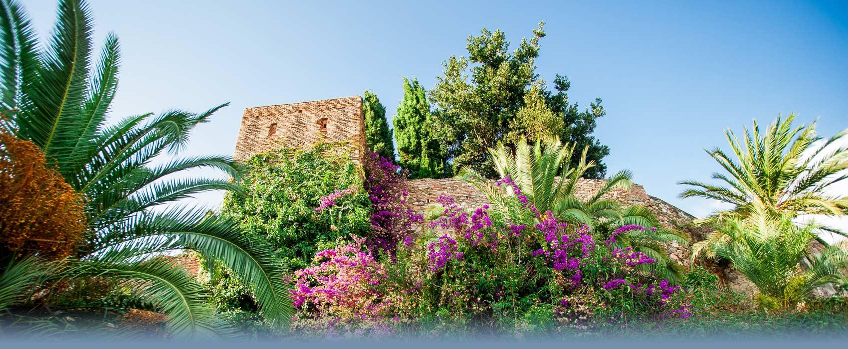 Die Alcazaba von Malaga