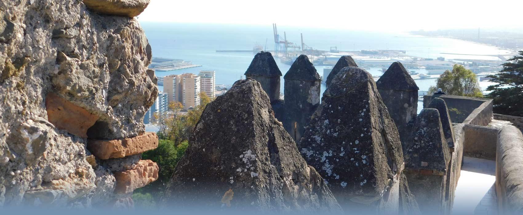Aussichtsplattform der Burg Gibralfaro von Malaga