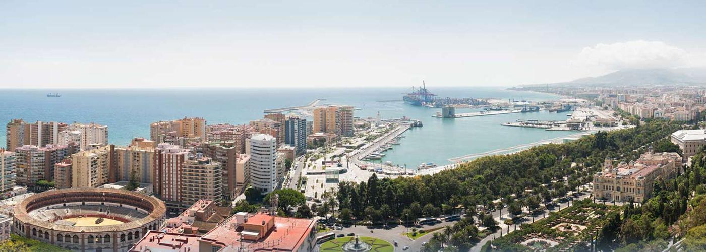 Die Stadt Malaga
